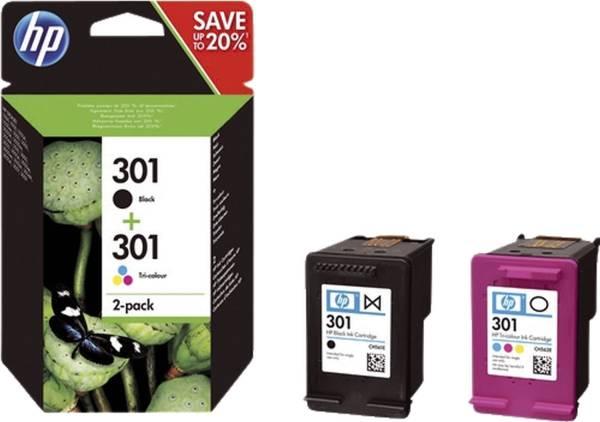 HP Combo Pack Nr.301 sw+3-fbg. N9J72AE