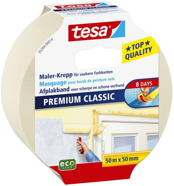 Papier Klebeband Maler Krepp Classic, 50 m x 50 mm, beige