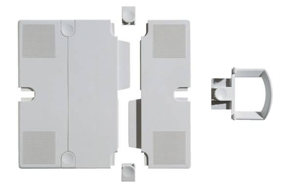 Erweiterungsplatten Set für Telefonschenkarm lichtgrau