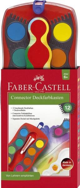 FABER CASTELL Farbkasten 12er Connector rot 125030