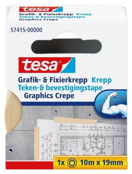 Fixierband Grafik und Fixier Krepp, Papier, 10 m x 19 mm, beige