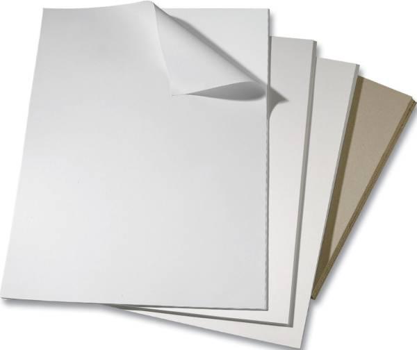 Bristolkarton weiß, 50 x 65 cm, 615g qm