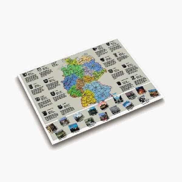 Landkarten Schreibunterlage 53 x 40 cm, DEUTSCHLANDKARTE