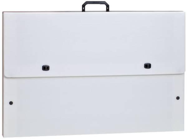 Stabiler Zeichenkoffer, weiß, A4