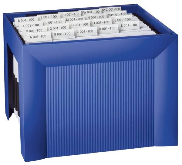 Hängemappenregistratur KARAT, für 35 Hängemappen, extra stabil, blau