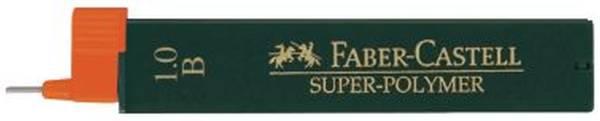 Feinmine SUPER POLYMER, 0,9 1 mm, B, tiefschwarz, 12 Minen