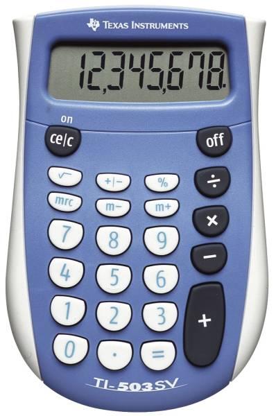 TEXAS INSTRUMENTS Rechner TI503SV 8stelli 752709