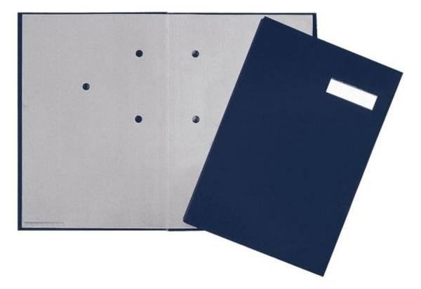 Unterschriftsmappe 20 Fächer, blau