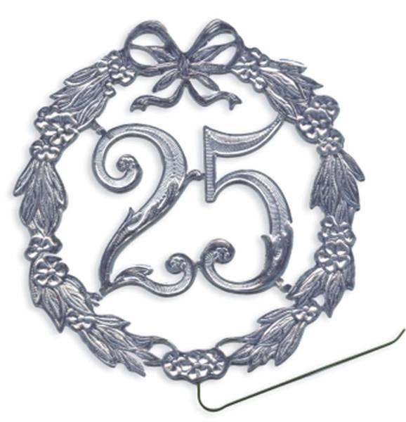 DEMMLER Jubiläumszahl D13cm 25 silber 1230250192 Draht