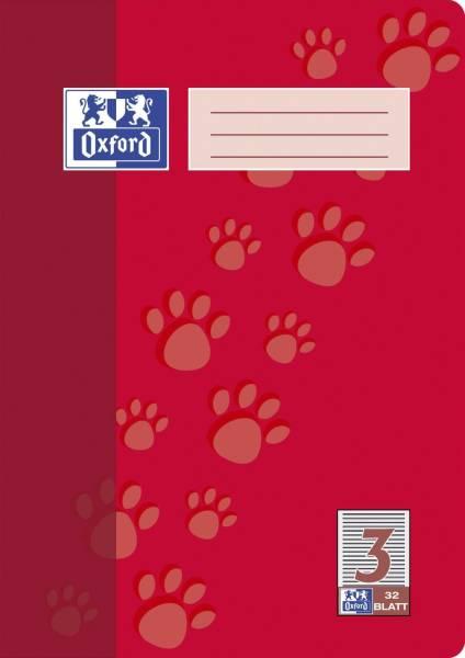 Heft A4 32 Blatt Lineatur 3
