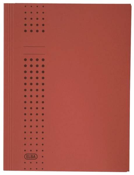 Sammelmappe chic, Karton (RC), 320 g qm, A4, 10 mm, rot