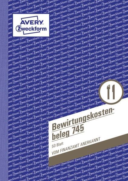 745 Bewirtungskostenbeleg, DIN A5, mikroperforiert, 50 Blatt, gelb