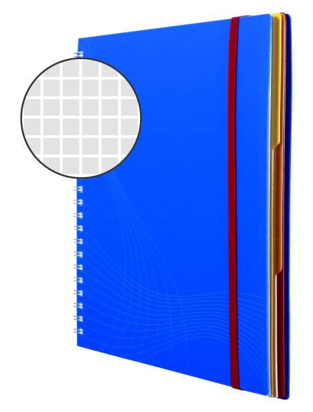 AVERY ZWECKFORM Notizbuch A4/90BL kar. blau 7037