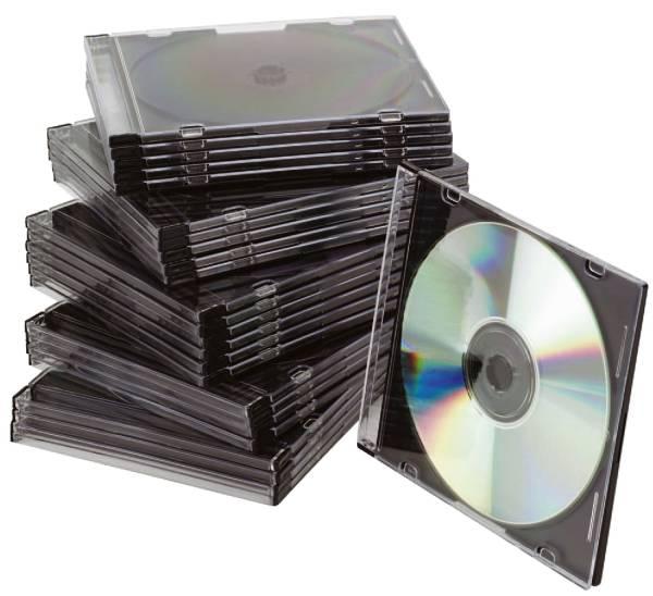 Q-CONNECT CD Hülle SlimCase 25ST sw/trans KF02210