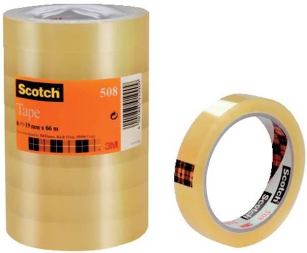 SCOTCH Klebefilm 8RL transparent 5081966 19 mm 66 m