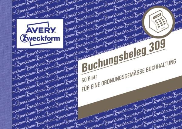 AVERY ZWECKFORM Buchungsbeleg A6quer 50BL 309