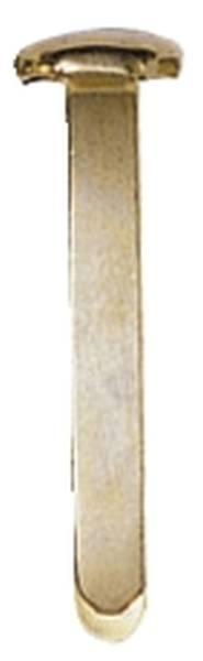 Musterbeutelklammern 1000 Stück, Rundkopf, 17 mm