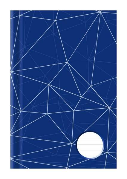 Kladde A5, liniert, blau weiß, 96 Blatt