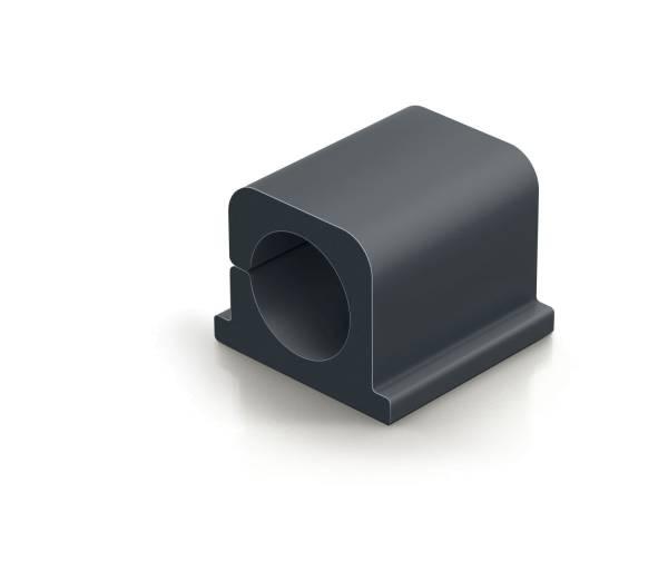 Kabel Clip CAVOLINE CLIP PRO 2 25 x 25 x 20 mm, graphit, Kunststoff, 4 Stück®