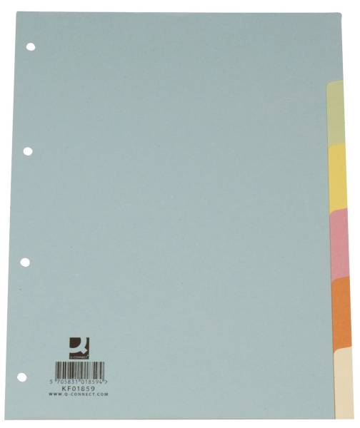 Register blanko, A4, 6 Blatt, Taben 6 farbig