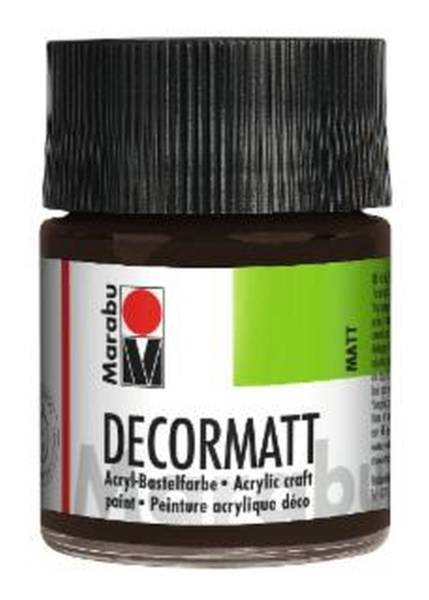 Decormatt Acryl, Dunkelbraun 045, 50 ml