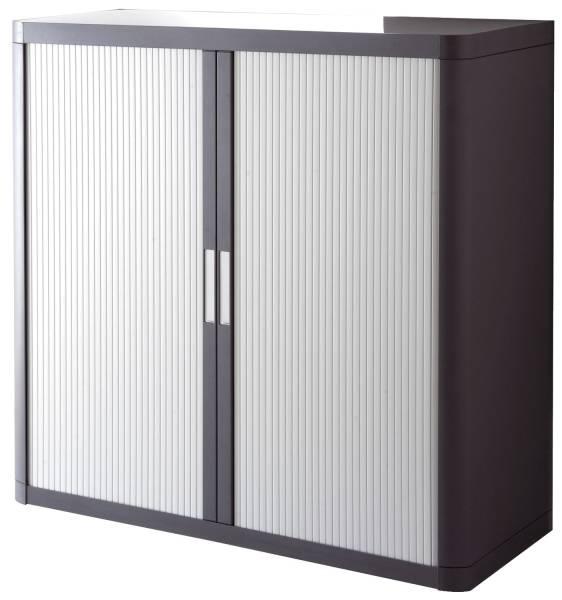 Rolladenschrank easyOffice 1 Meter Schrank, inklusive 2 Fachböden anthrazit grau