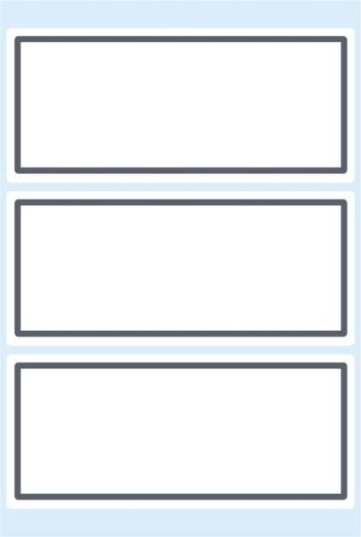 5711 Schuletiketten neutral grauer Rand 82x36 mm