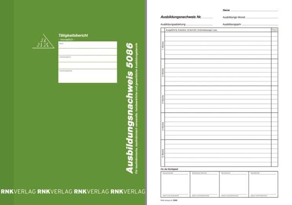 Ausbildungsnachweis Block monatlich, alle Berufe, 24 Blatt, DIN A4