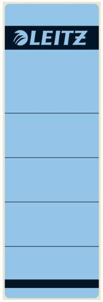 1642 Rückenschilder Papier, kurz breit, 10 Stück, blau