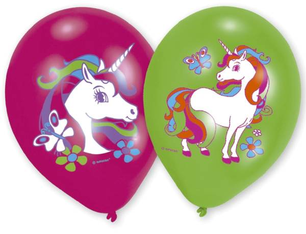 Luftballon Einhorn 6ST sort. NICORN 9902173