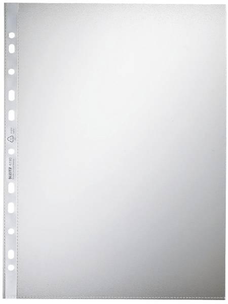 4790 Prospekthülle Standard, A4, PP, genarbt, 0,09 mm, dokumentenecht, farblos, 100 Stück