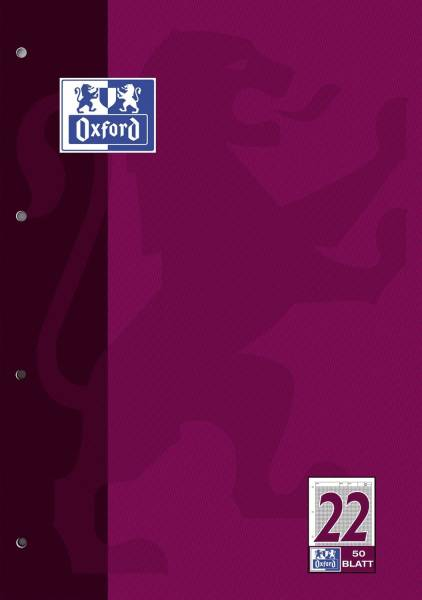 Arbeitsblock Lin 22 A4, 50 Blatt, 90 g qm, 4 fach Lochung