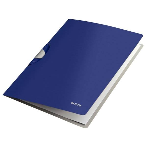 Klemmmappe A4 PP titan blau