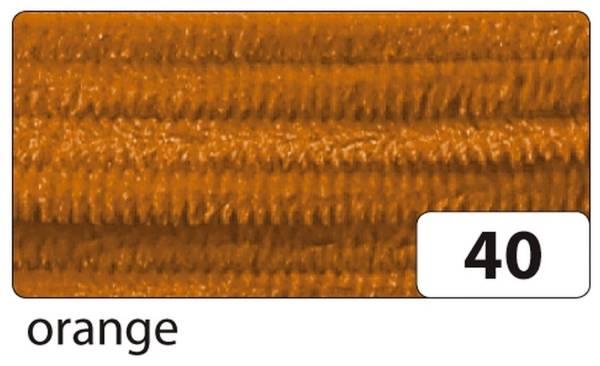 Chenilledraht 8 mm, 10 Stück, orange