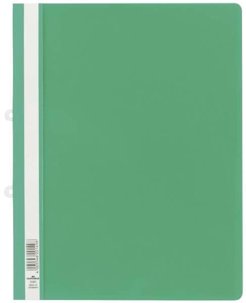 Sichthefter mit Abheftschieber, Hartfolie, 0,16 mm, DIN A4, 280 x 330 mm, grün