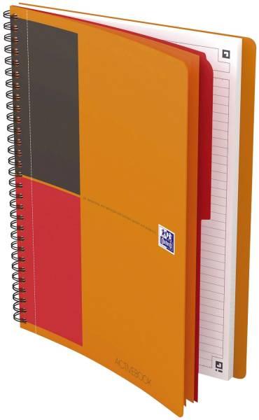 Activebook Connect Collegeblock, B5, liniert, 80 Blatt, Softcover, 4 Eckmarkierungen zum scannen