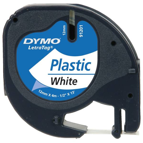 DYMO Schriftband LetraTag 12mmx4m ws/sw S0721660 91221 Plastik