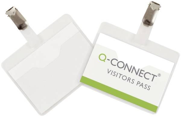 Q-CONNECT Namensschild 90x60mm KF01560 25ST m.Clip