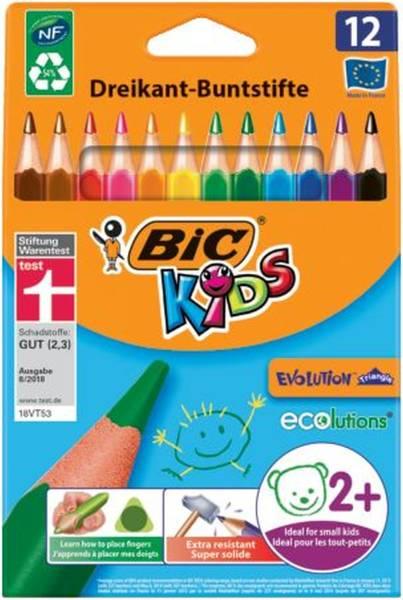 BIC Farbstiftetui Kids Ecolutions 8297359/8297358 12St sort.Evolution