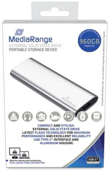 MEDIARANGE Festplatte extern 960GB silber MR1103