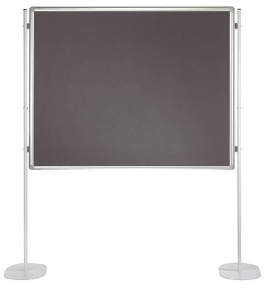 Textiltafel PRO, beidseitig verwendbar, 180 x 120 cm, grau