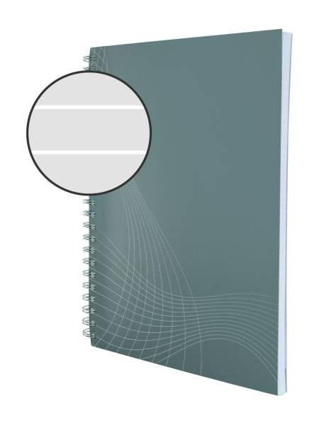 AVERY ZWECKFORM Spiralnotizbuch A5 lin. grau 7010