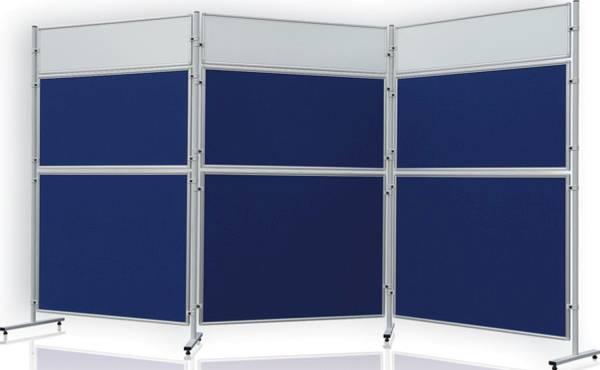 FRANKEN Stellwandtafel Filz blau EL-UTF30 03 beidseitig