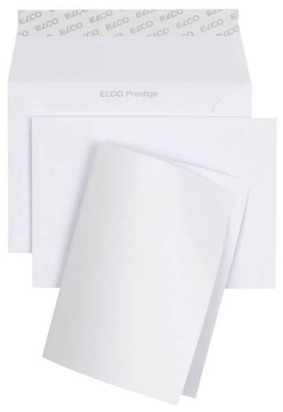ELCO Kuvert Prestige C6+KarteA6 weiß 89301.10 je 10ST