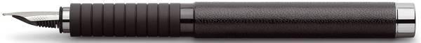 FABER CASTELL Füller F Leder schwarz 148831 Basic Bl.