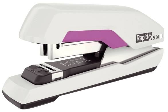 RAPID Heftgerät Supreme S50 HS weiß/pink 5000545 50 Blatt