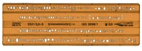 Isonorm Schriftschablone 2521