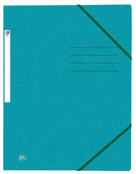 OXFORD Eckspanner A4 Karton aqua 400116326 Top File+