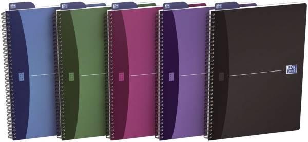 Office Spiralbuch A6, 5 mm kariert, 90 Blatt, sortiert